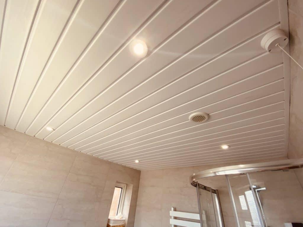 Hue Lights in the bathroom ceilings