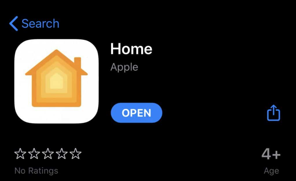 apple homekit in the app store