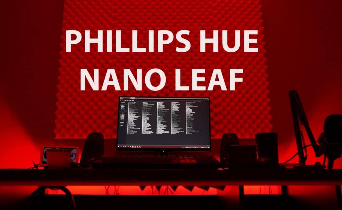phillips hue and nano leaf integration