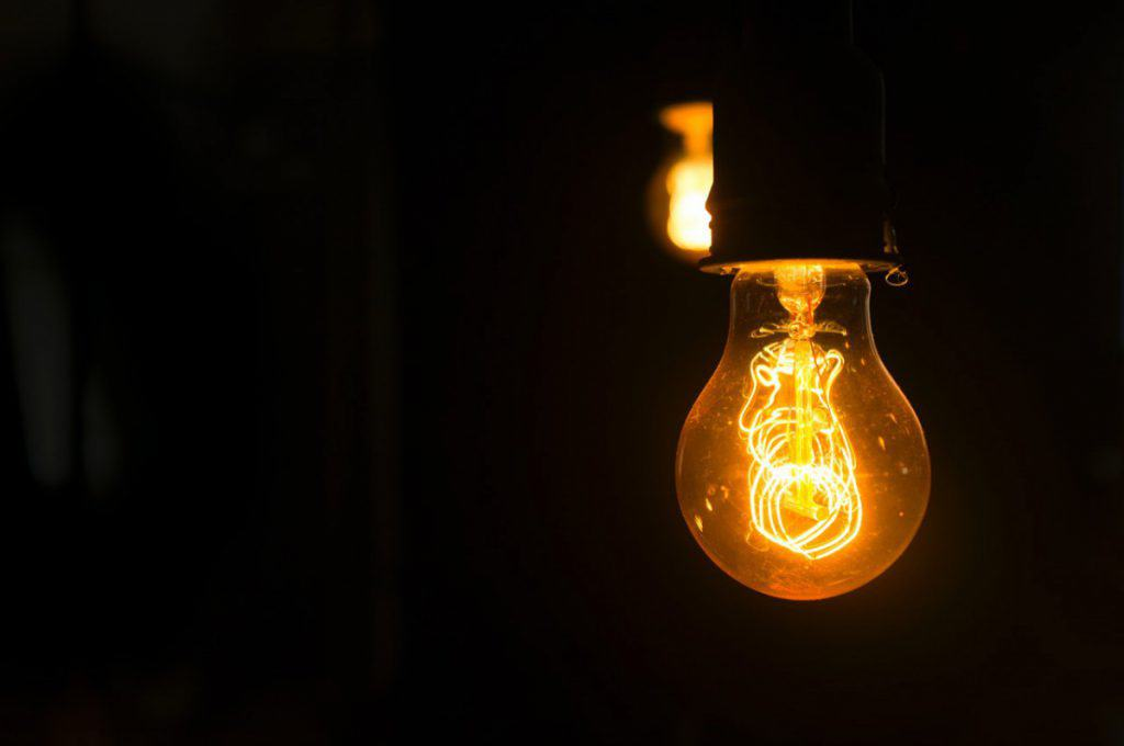 yellow Edison bulb