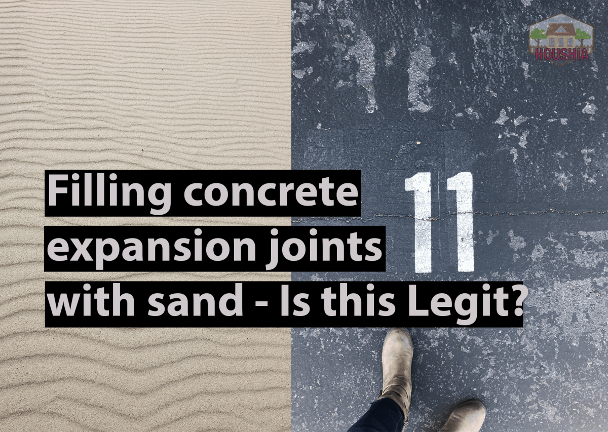 FILLING CONCRETE EXPANSION JOINTS WITH SAND