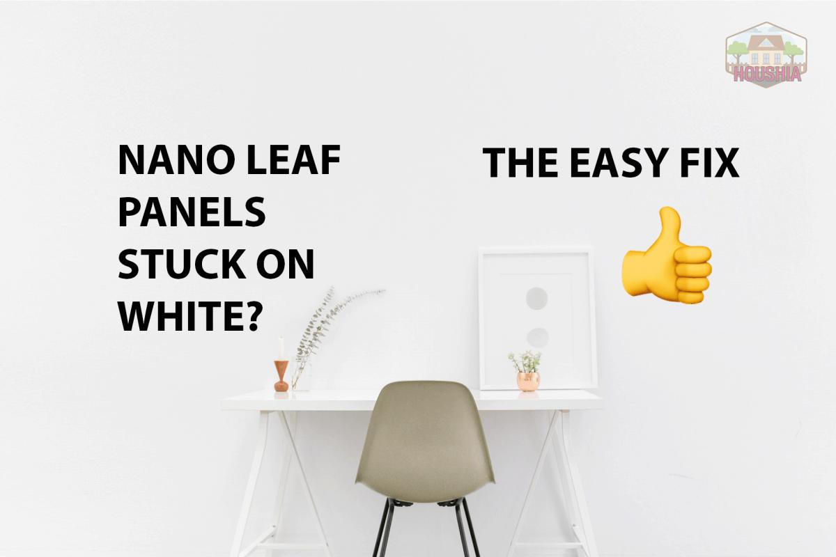 NANOLEAF PANELS STUCK ON WHITE