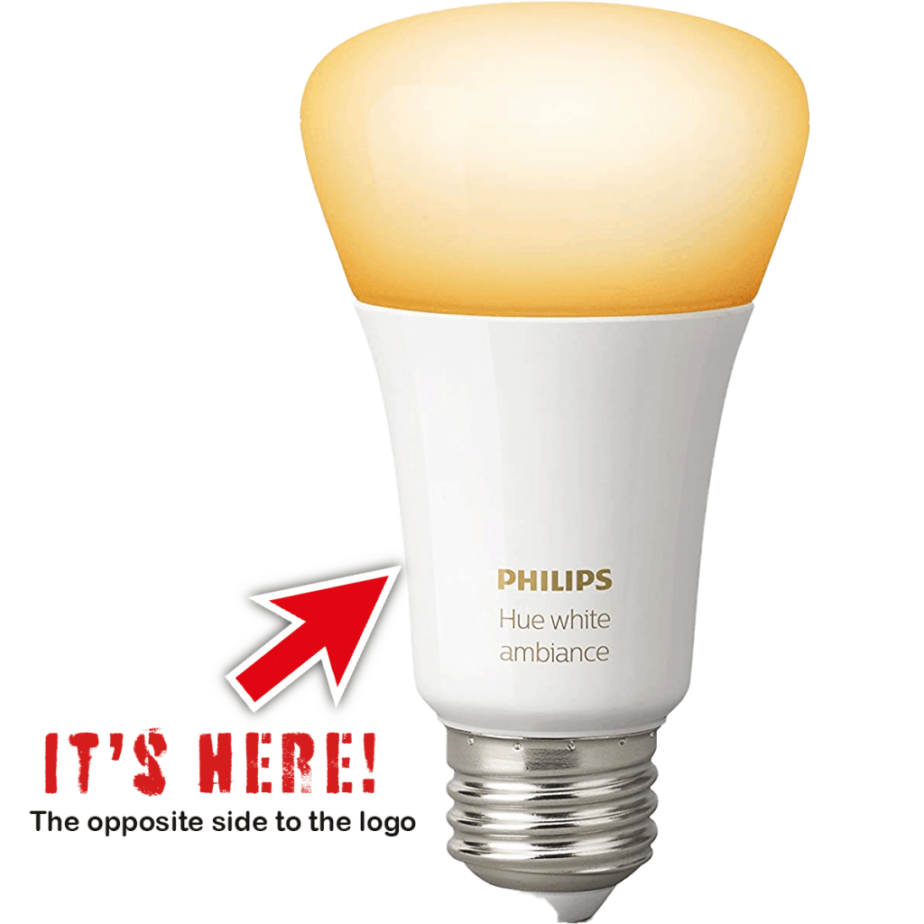 PHILIPS HUE BULB SERIAL NUMBER LOCATION