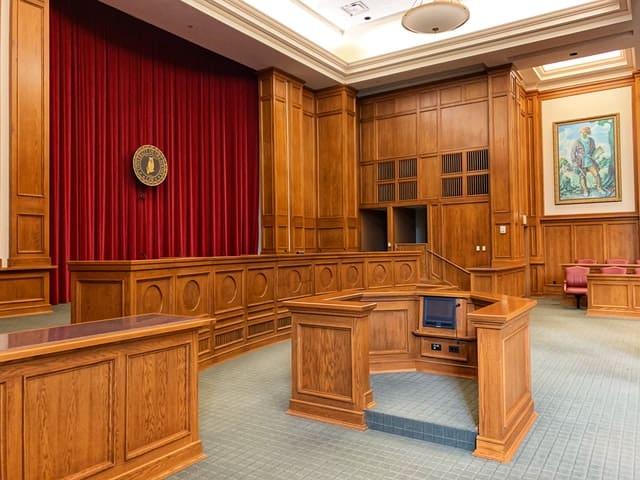 inside of court