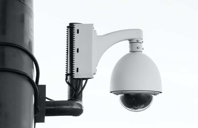 security camera on motor