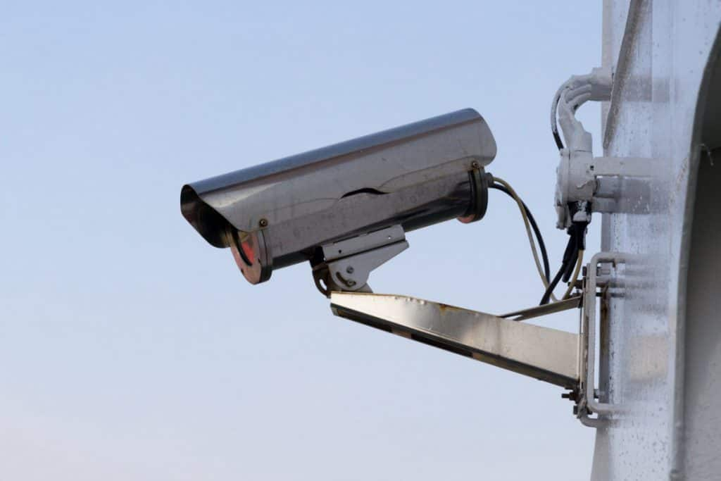 typical security cameras do not record sound