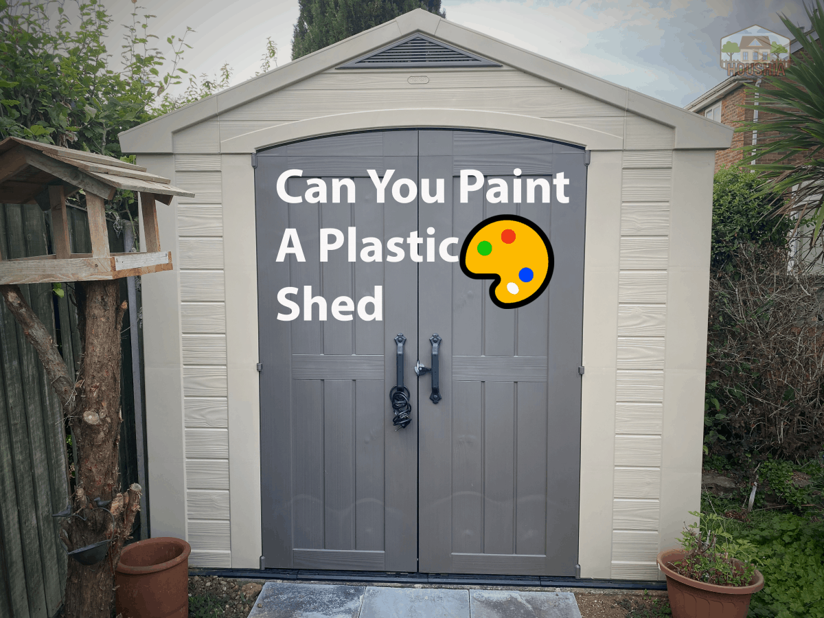 can you paint a plastic shed